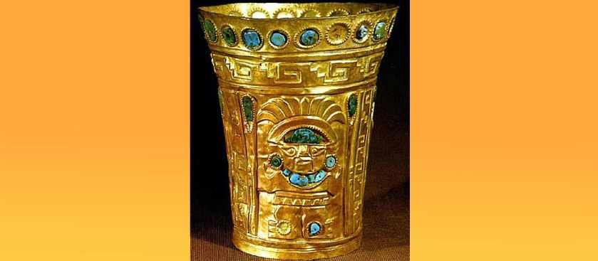 Инкский золотой кубок