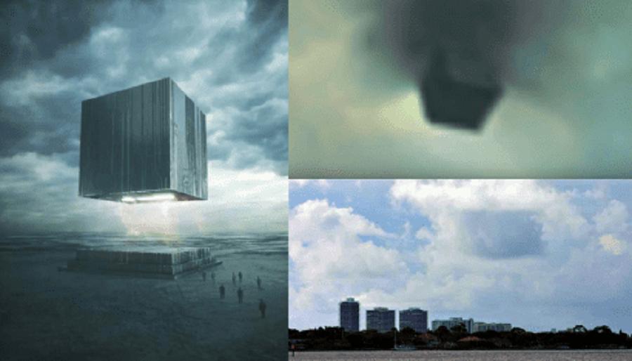 В Аризоне приземлился огромный кубический НЛО?