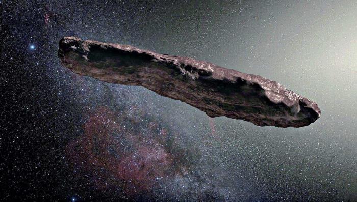 Межзвездный астероид Оумуамуа создан инопланетянами
