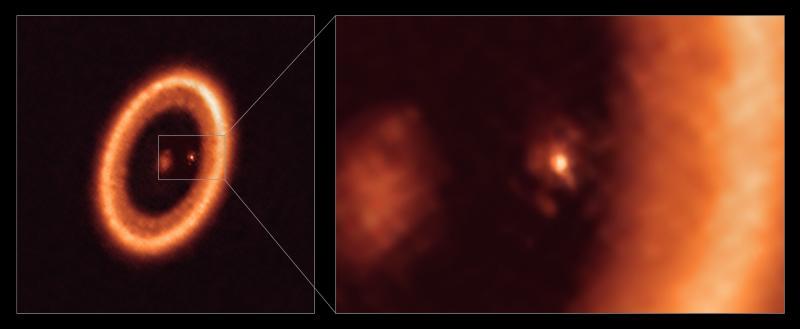 Впервые увидели пылевой диск вокруг протопланеты