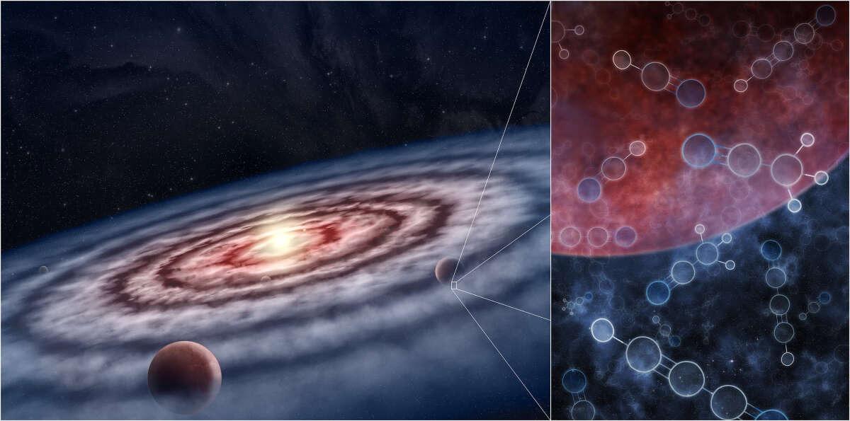 В дисках вокруг звезд обнаружены большие резервуары органических молекул