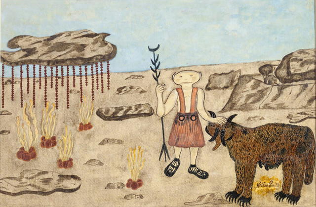 """Марсианский пастух"", рисунок Элизы Мюллер"