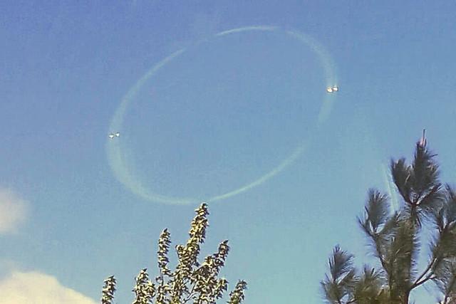Над вулканом в Каскадных горах сфотографировали странный круг