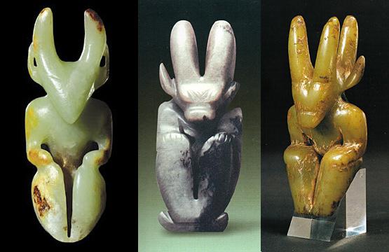 Кого изображают нефритовые стутуэтки древней культуры Хуншань?