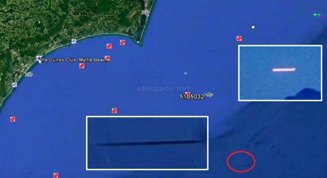 В океане у восточного побережья США скрывается иглообразный НЛО